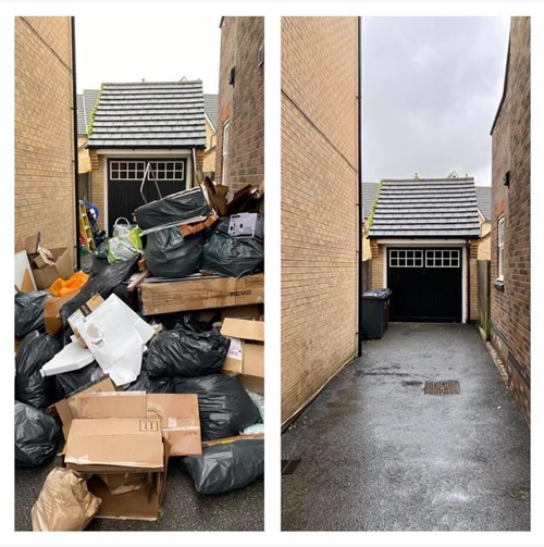 Household waste clearances in Hertfordshire